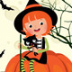 Halloween Witch sitting on a Pumpkin - GraphicRiver Item for Sale