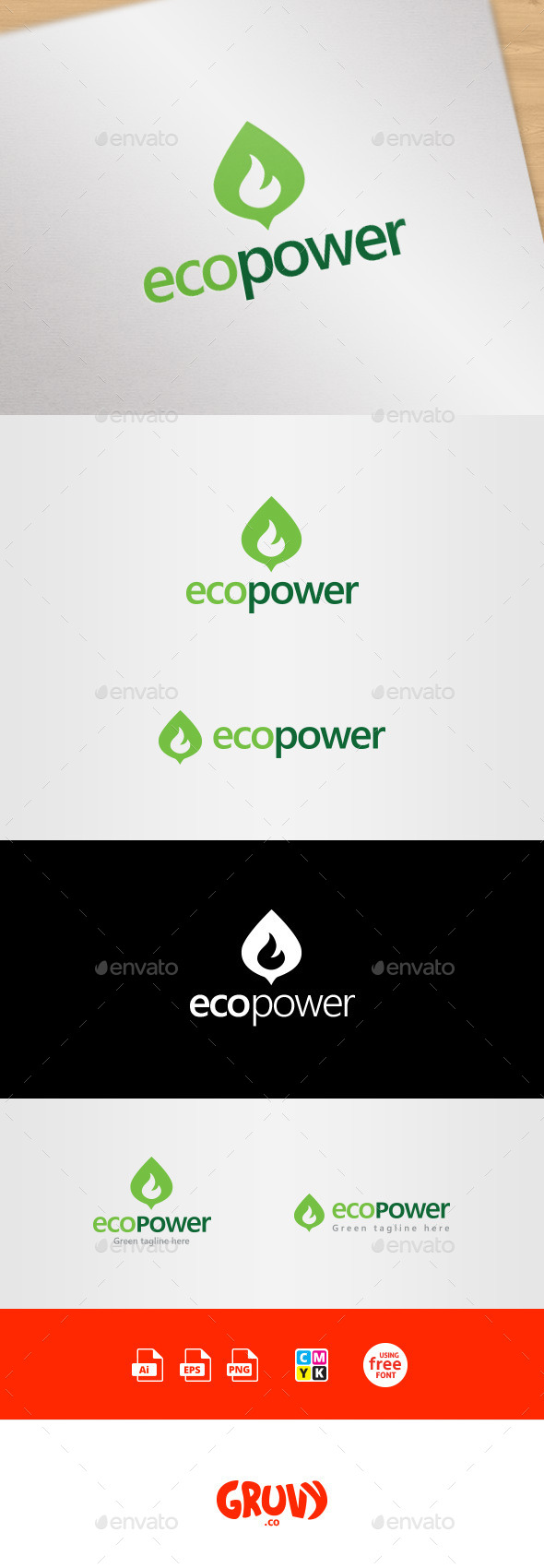 GraphicRiver EcoPower Green Energy Logo Template 9019945