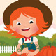 Little Farmer of Pumpkins - GraphicRiver Item for Sale