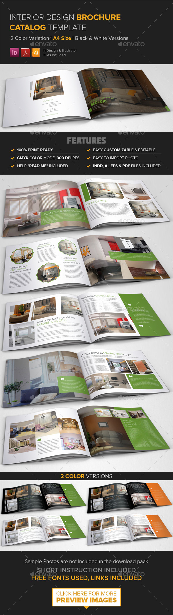 GraphicRiver Interior Design Brochure Catalog Template 9020008