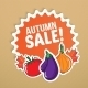 Autumn Sticker with Vegetables. - GraphicRiver Item for Sale