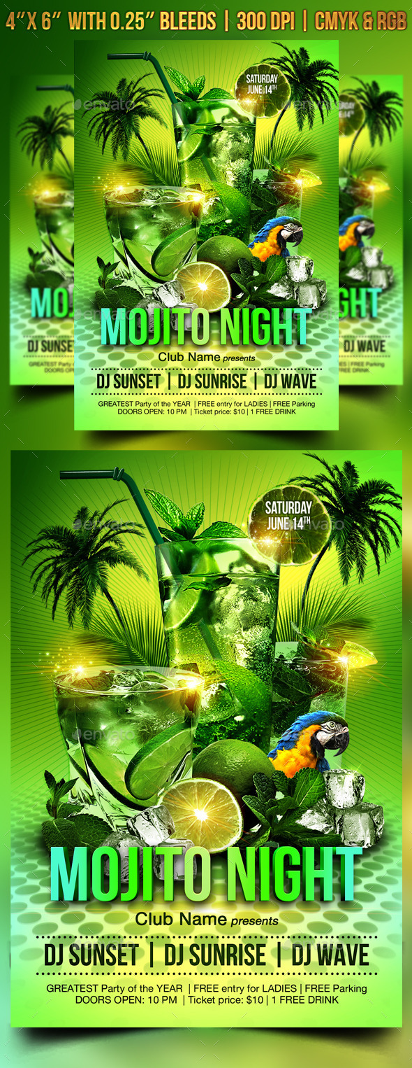 GraphicRiver Mojito Night Flyer Template 9020122