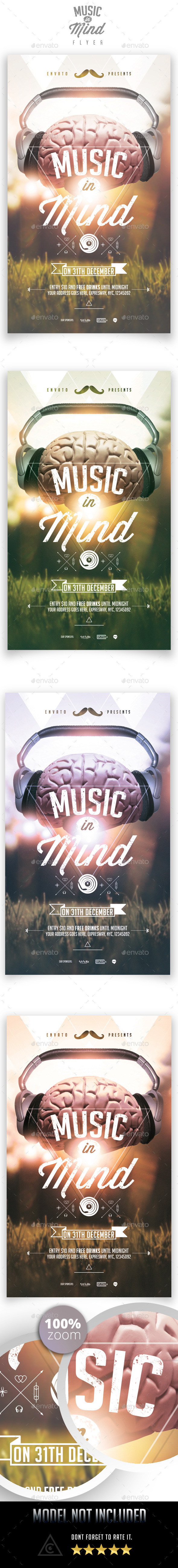 GraphicRiver Music in Mind Flyer Template 9020350