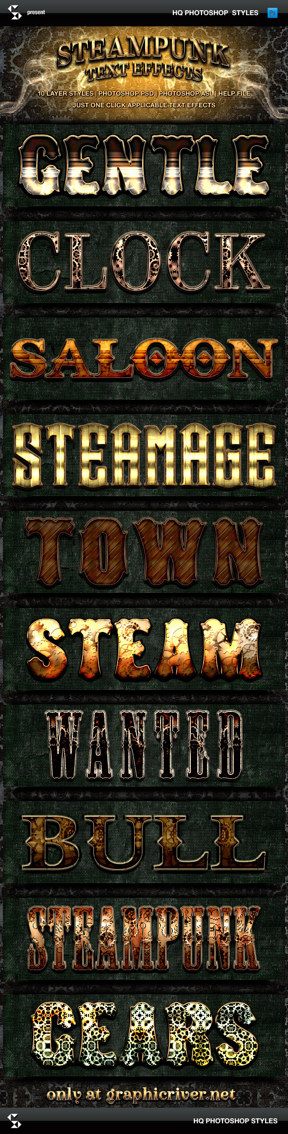 GraphicRiver Steampunk Text Effects 9020781