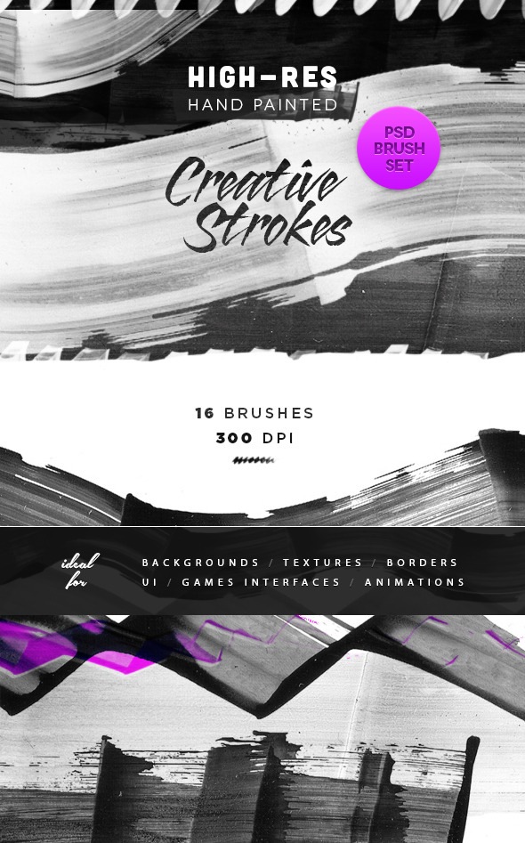 GraphicRiver Creative Artistic Ink Brush Strokes 9009491