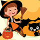 Witch Riding on the Moon on Halloween Night - GraphicRiver Item for Sale