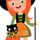 Witch and her Cat on Halloween - GraphicRiver Item for Sale