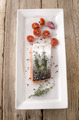 salmon fillet with thyme on a plate - PhotoDune Item for Sale