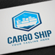 Cargo Ship Logo - GraphicRiver Item for Sale