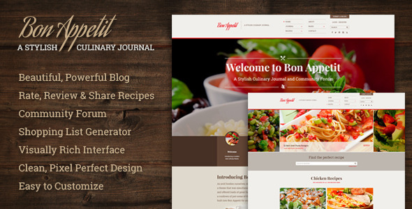 ThemeForest Bon Appetit A Stylish Culinary Journal 9021008