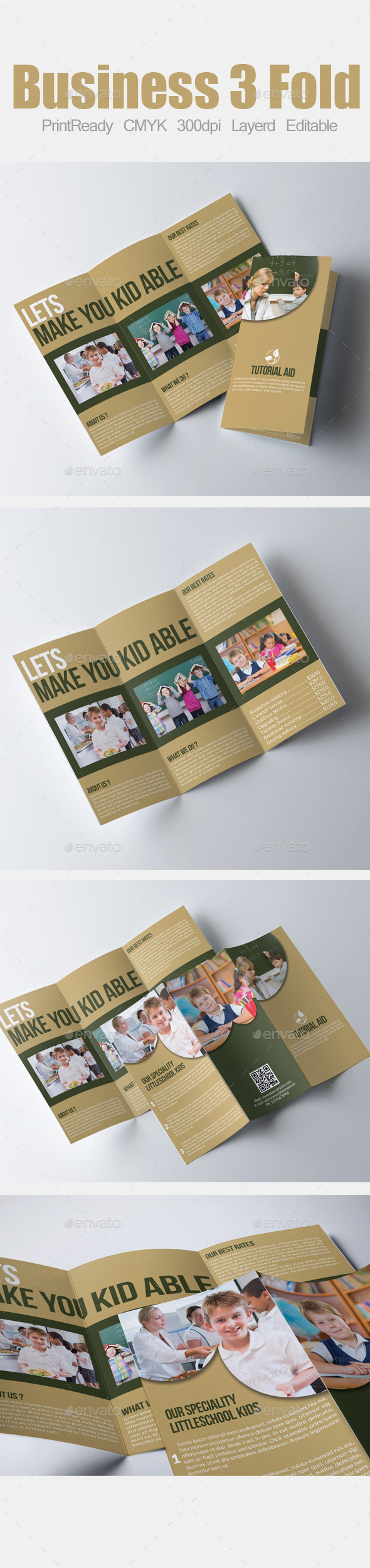 GraphicRiver Tri Fold Education Brochure 9021093