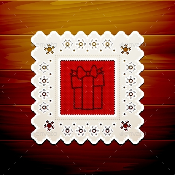 GraphicRiver Christmas Napkin Table 9021333