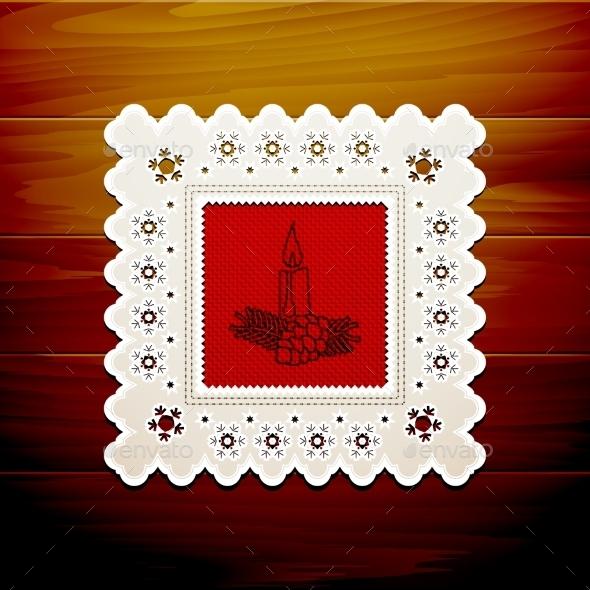 GraphicRiver Christmas Napkin Table 9021356