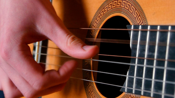 Strumming Playing Acoustic Guitar 1