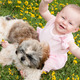 Happy baby and a puppy - PhotoDune Item for Sale