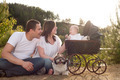 Happy family with vintage pram - PhotoDune Item for Sale