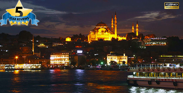 Suleymaniye Mosque in Istanbul at Night