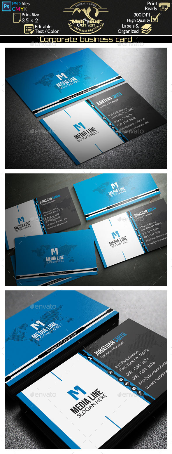 GraphicRiver Corporate Business Card 51 9021457