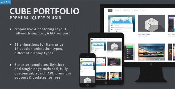 Cube Portfolio - Responsive jQuery Grid Plugin - CodeCanyon Item for Sale