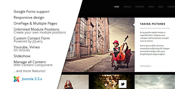 MY FOLIO : Responsive Photography Joomla - Photography Creative