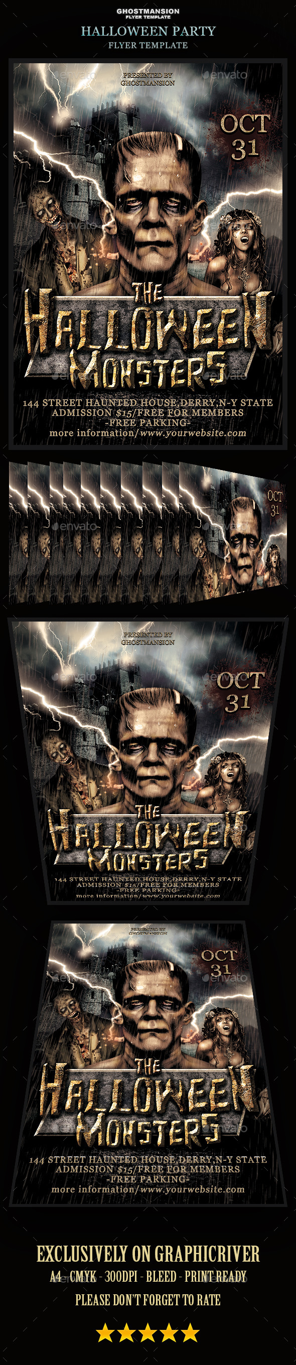 GraphicRiver Halloween Flyer Template 9021724