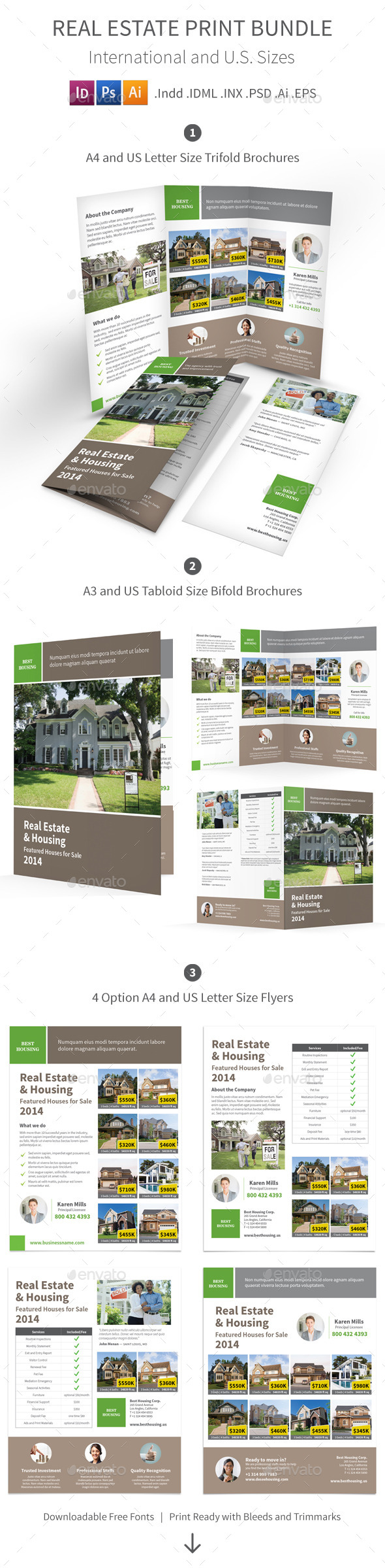 GraphicRiver Real Estate Print Bundle 9021854