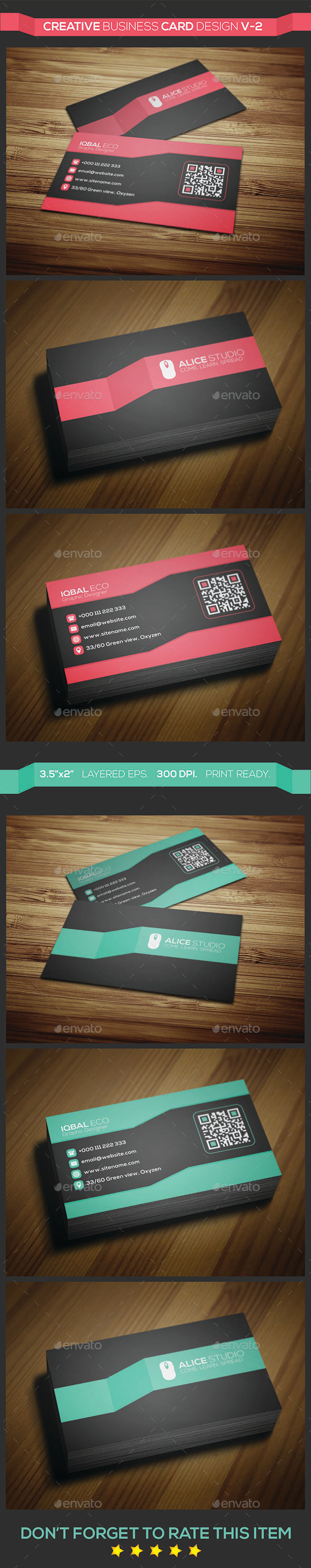 GraphicRiver Creative Business Card Design V-2 9021941