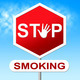 Stop Smoking Means Warning Sign And Caution - PhotoDune Item for Sale