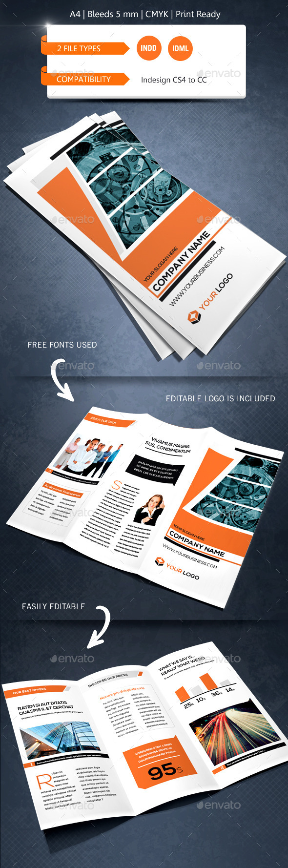 GraphicRiver Creative & Corporate Trifold Brochure Template 9022209