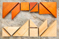 two sets of tangream puzzle - PhotoDune Item for Sale
