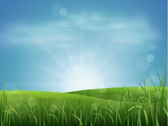 GraphicRiver Meadow Grass and Sky 9022312