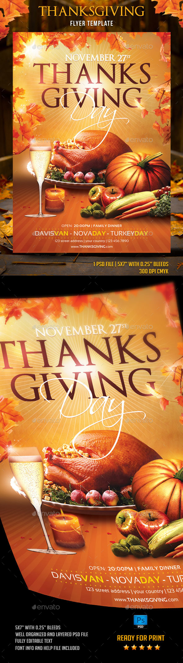 GraphicRiver Thanksgiving Day Flyer Template 9022442