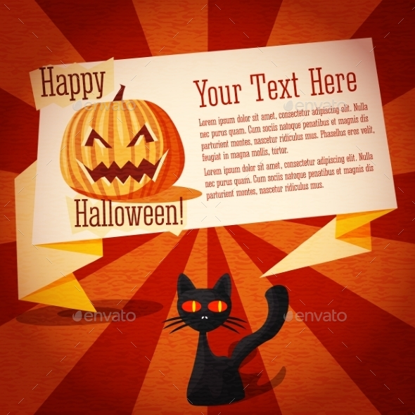GraphicRiver Happy Halloween Banner on the Craft Paper 9022495
