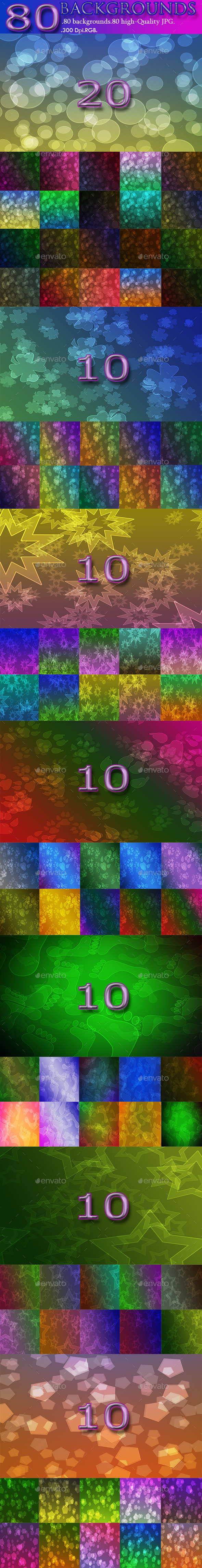 GraphicRiver 80 Backgrounds 9022529
