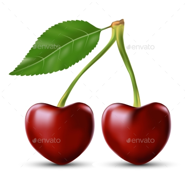 GraphicRiver Two Lovers Cherry Like Heart 9023249