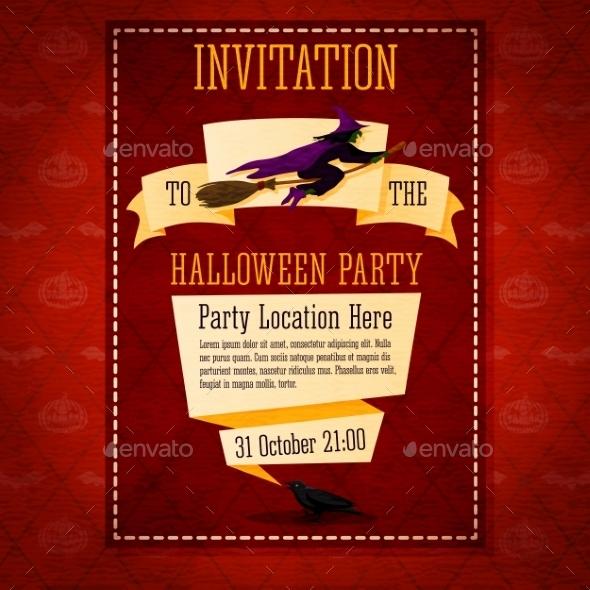 GraphicRiver Happy Halloween Invitation Card 9023358