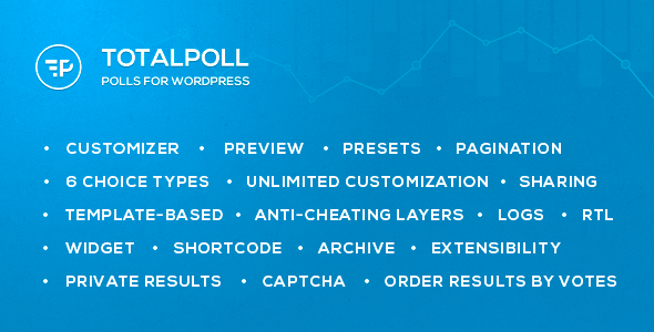 Back-office (wp admin) Demo Login credentials: user: demo password: demo About TotalPoll TotalPoll is a WordPress plugin that let you create and integrate poll