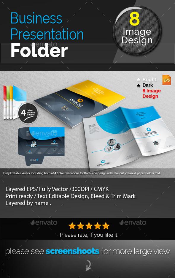GraphicRiver Clean Corporate Presentation Folder 9023517