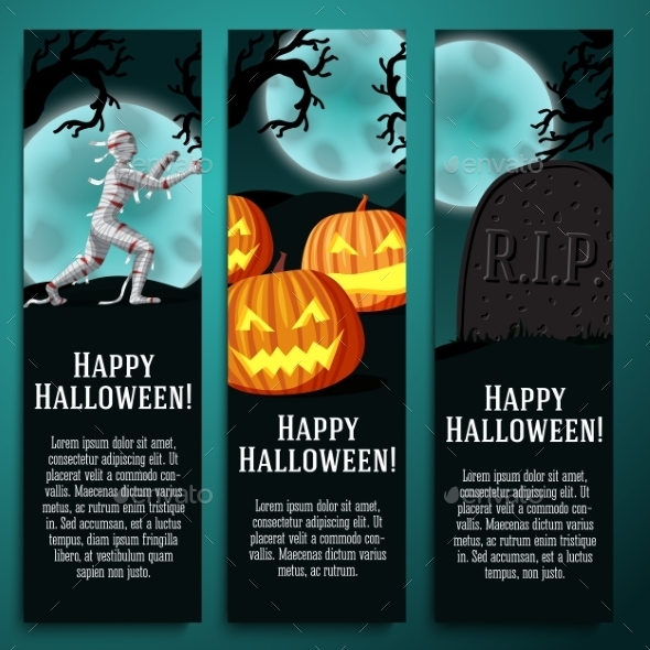 GraphicRiver Halloween Banners 9023542