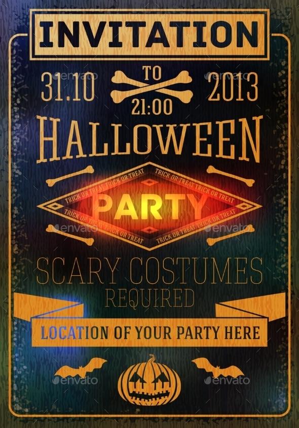 GraphicRiver Halloween Party Invitation 9023563