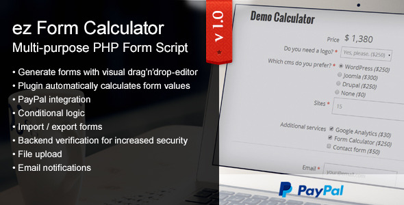 ez Form Calculator PHP