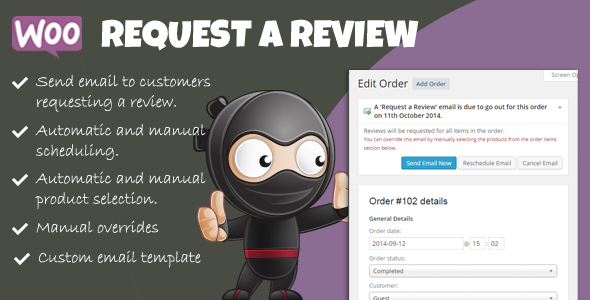 CodeCanyon Woocommerce Request a Review 9024142