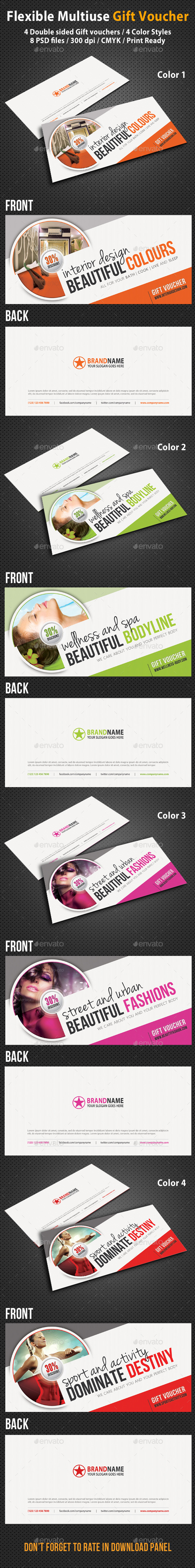 GraphicRiver Creative Gift Voucher V02 9024350
