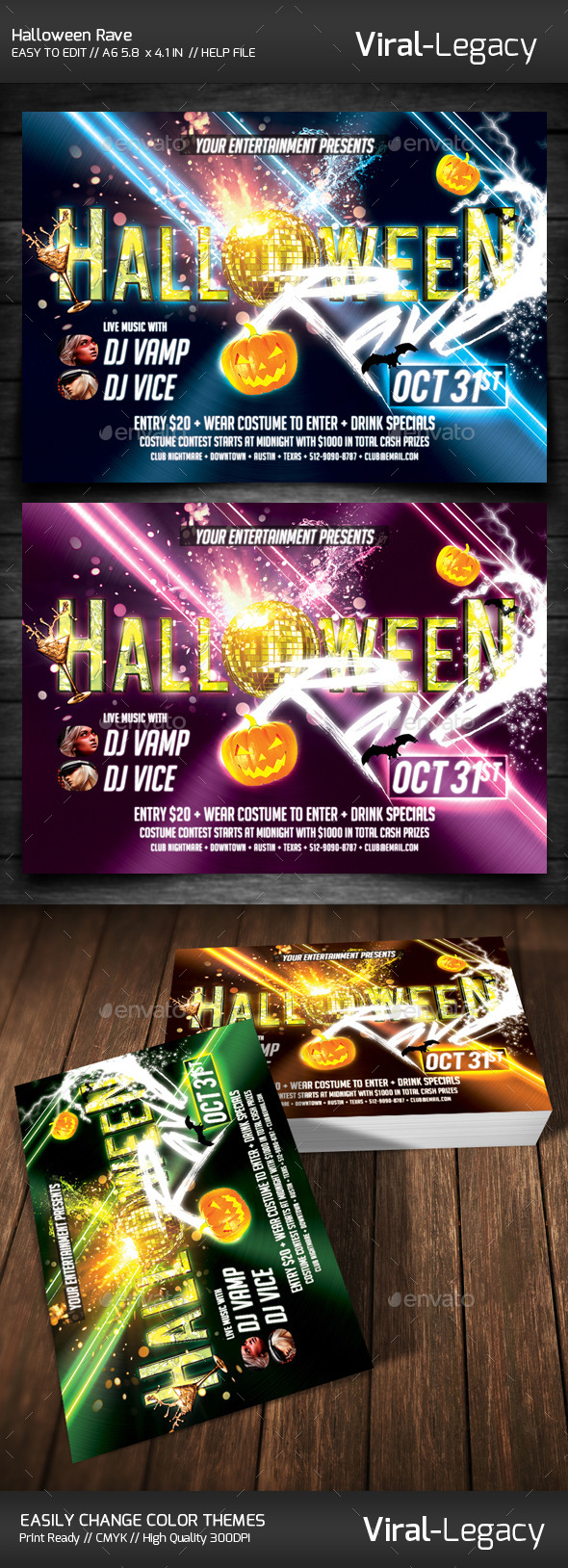 GraphicRiver Halloween Rave 9024445
