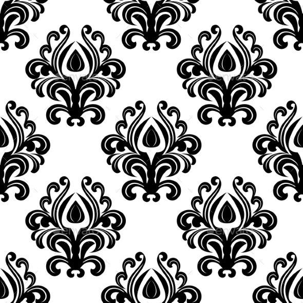 GraphicRiver Floral Damask Pattern 9024460