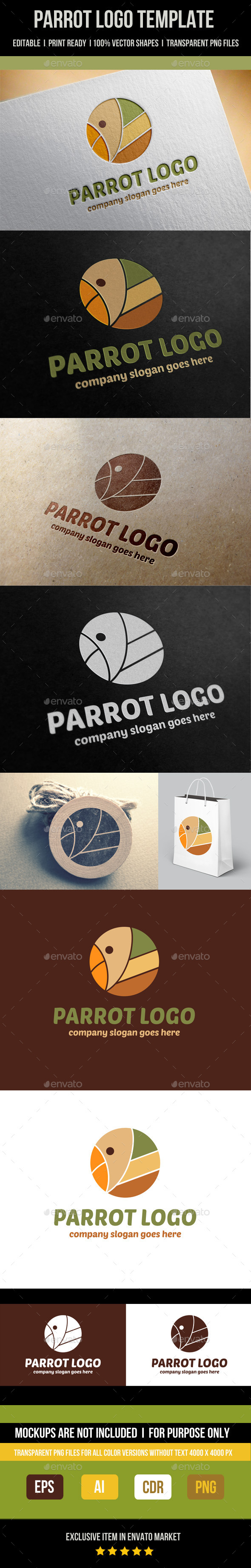 GraphicRiver Parrot Logo Template 9024516