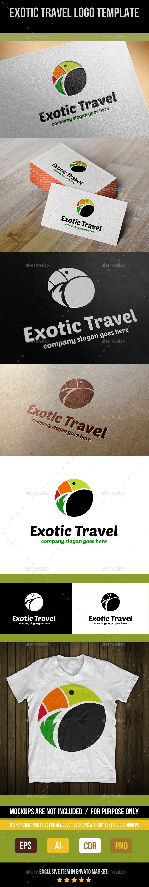 GraphicRiver Exotic Travel Logo Template 9024611
