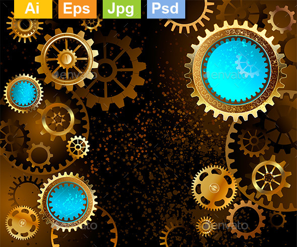 GraphicRiver Dark Background with Gears 9025485
