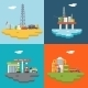 Retro Flat Oil Icons and Symbols Concept Set Vector - GraphicRiver Item for Sale