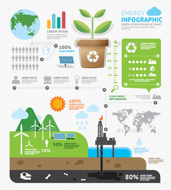 GraphicRiver Infographic Energy Template Design 9025648